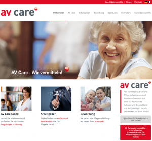 Website von avcare.ch