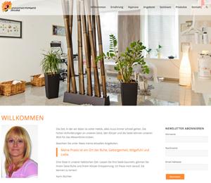 Website von Praxis Solara