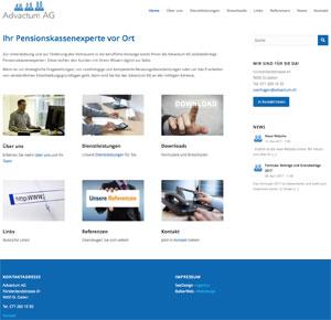 Webdesign Pensionskasse Advactum