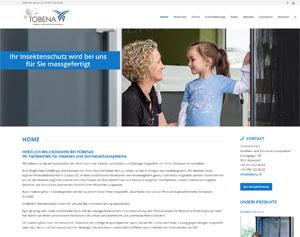 Webdesign für Firma Tobena